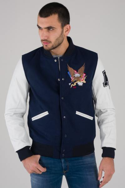 Blouson Homme American College REF 71 NAVY/WHITE