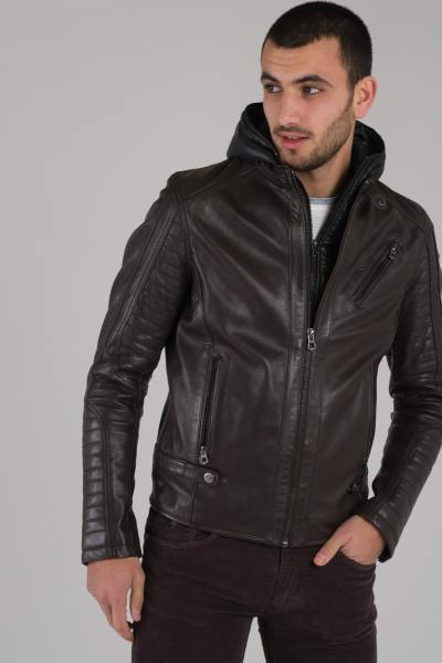 herren Jacke daytona KIRILL HOOD SHEEP MANILA BROWN              title=