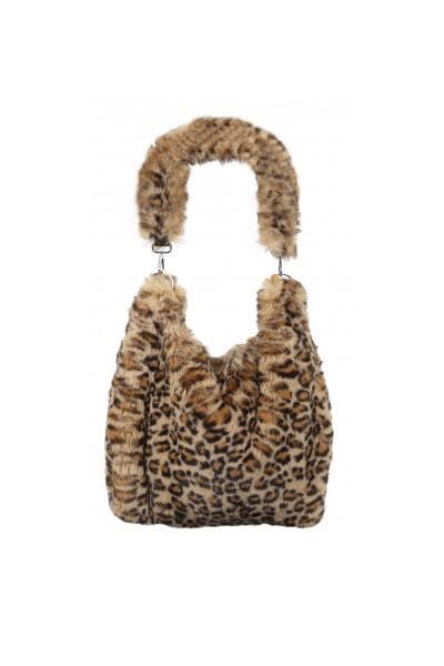 Wendebare beigefarbene Leoparden-Tasche              title=