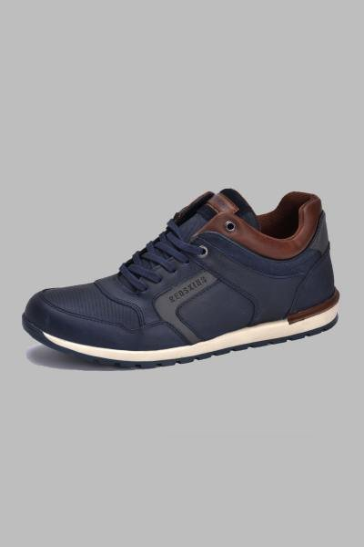 Marineblaue Leder-Sneakers              title=