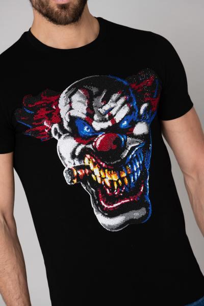 t-shirt clown strass              title=