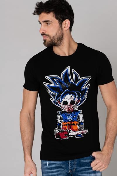 t-shirt sangoku strass               title=