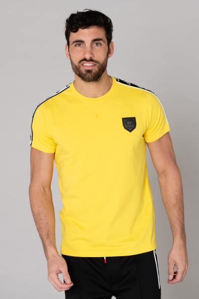 Gelbes Slim-Fit-T-Shirt