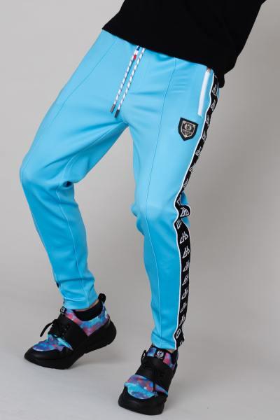 Pantalon de survet' bleu turquoise homme              title=