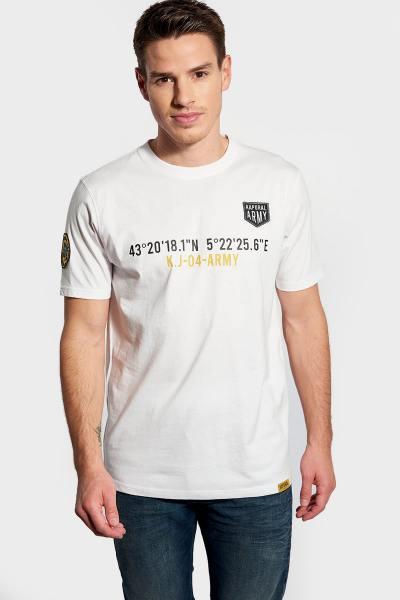 Tshirt homme blanc à col rond              title=