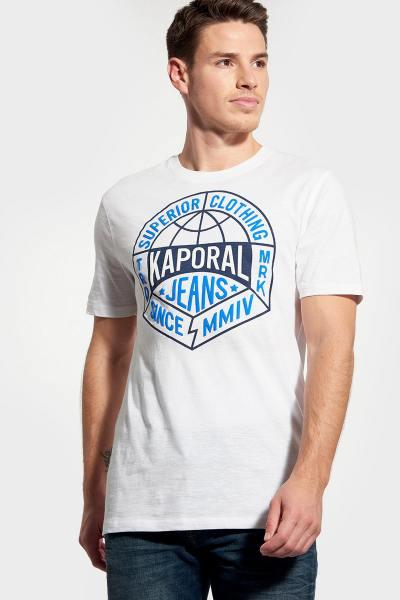 Weißes T-Shirt mit Rundhalsausschnitt Mann              title=