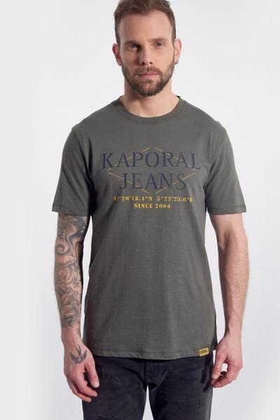 T-Shirt Rollkragenpullover rund couleur khaki