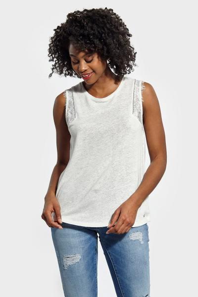 Tee Shirt Femme Kaporal BECCO WHITE