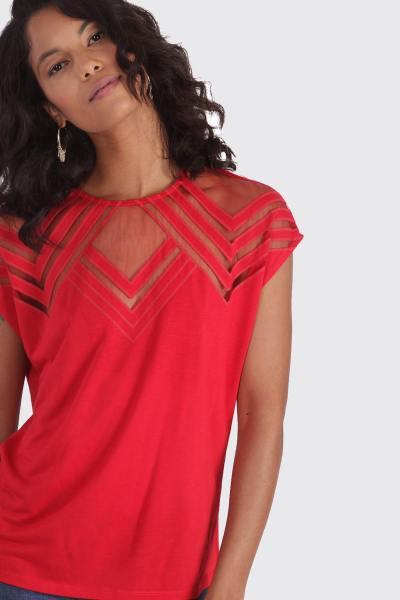 Ärmelloses rotes Abendhemd