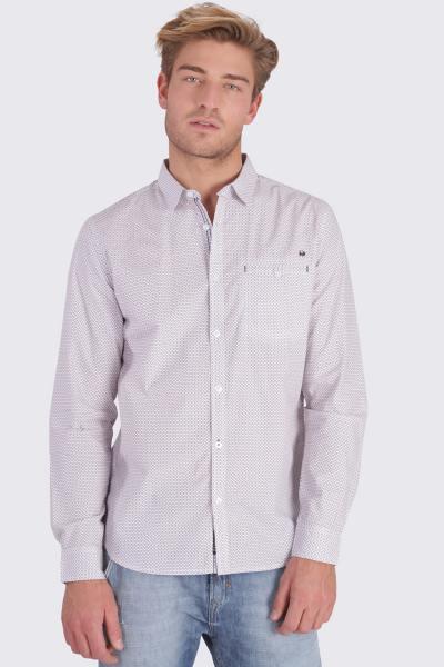 Chemise à motifs en coton              title=