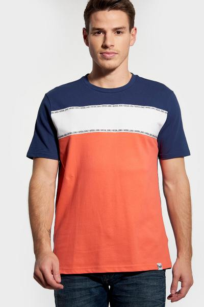 Tee-shirt tricolore col rond