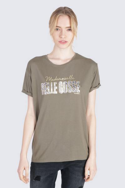 T-shirt Belle Gosse coupe loose kaki
