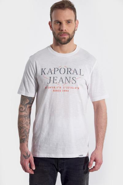 Tee shirt blanc col rond