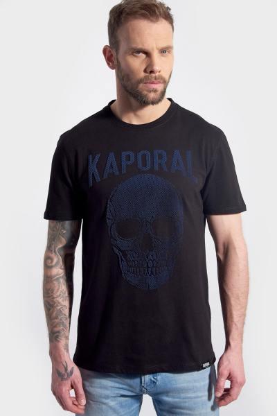 T-Shirt mit schwarzem Totenkopfdruck für Männer