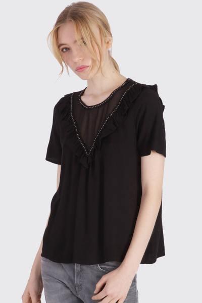 Tee Shirt Femme Kaporal API BLACK