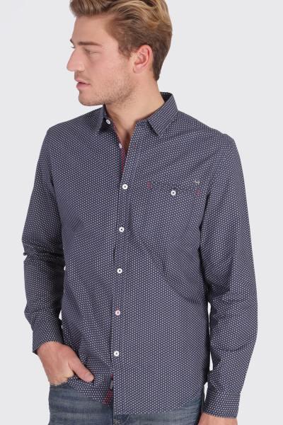 Chemise à motif bleue foncé              title=