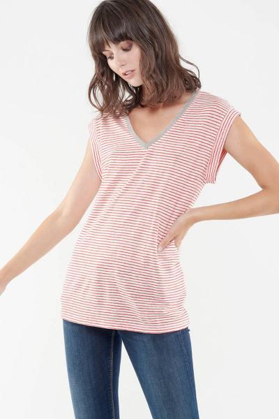 Tee Shirt Femme Le temps des Cerises TSHIRT F SERGIA LIPSTICK