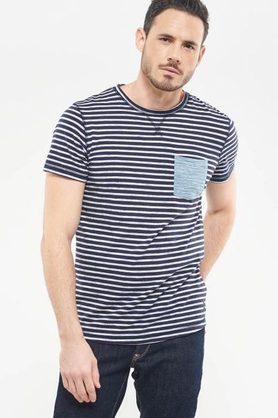 T-shirt marinière avec poche poitrine              title=
