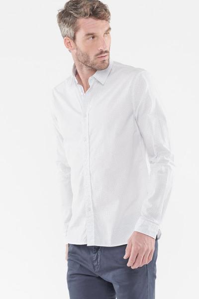 Chemise blanche à motif simple              title=