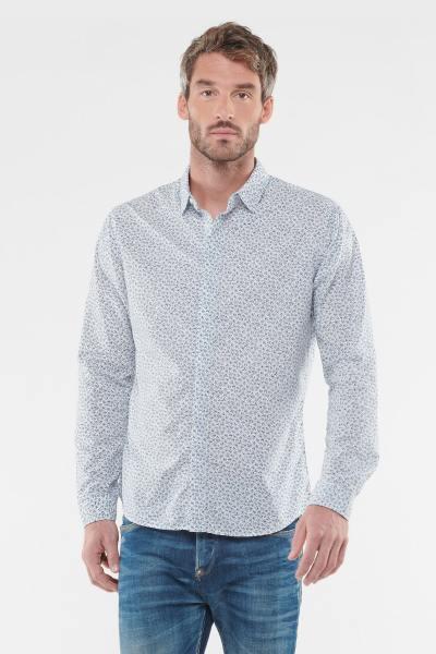 Chemise homme blanche avec motifs              title=