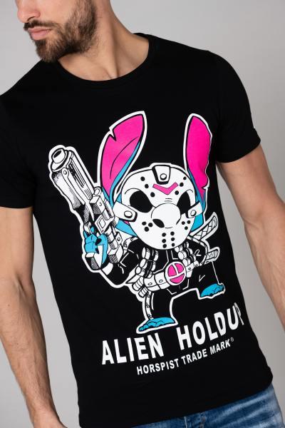Tshirt noir pour homme Alien Holdup              title=