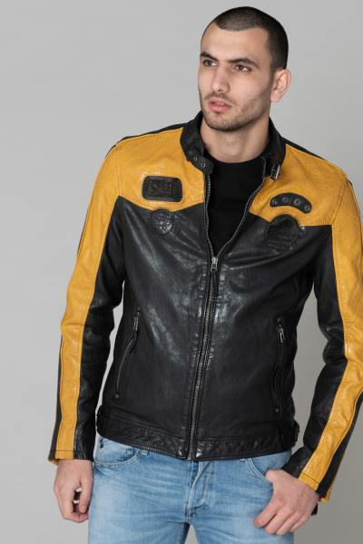 herren Jacke gipsy GB TROON SF LACAV BLACK/YELLOW              title=