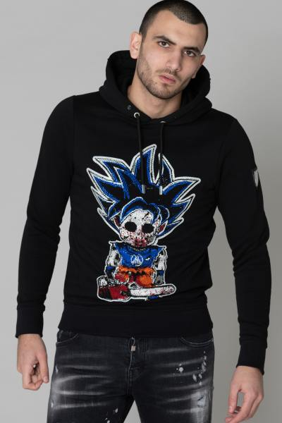 Pull Dragon Ball Sangoku noir strass              title=