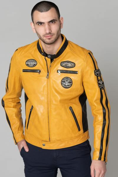 Blouson Homme Daytona GALIANO SHEEP ATLAS VEG SOLANO YELLOW