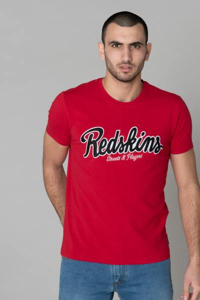 Teeshirt rouge col rond homme              title=