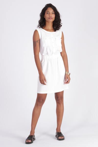 Weißes ärmelloses Kleid