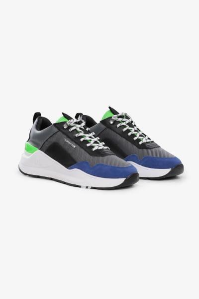 Sneakers luxe noir vert bleu              title=