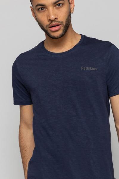 Teeshirt bleu marine uni fluide              title=