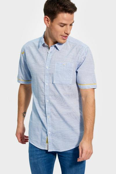Chemise rayée homme manches courtes              title=