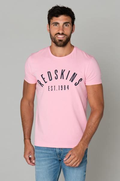 Tee-shirt rose homme avec logo              title=