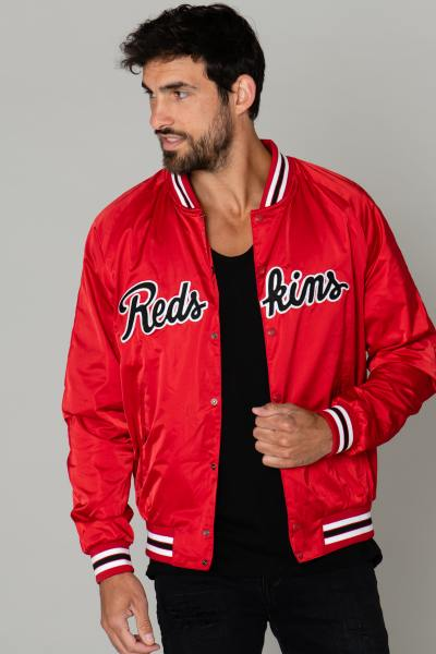 Blouson universitaire US rouge              title=