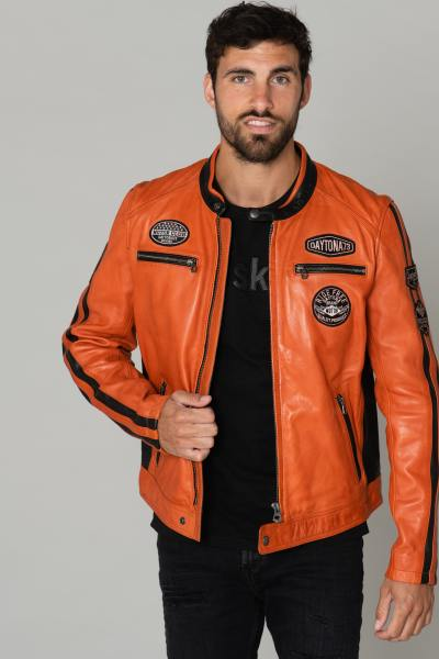 herren Jacke daytona GALIANO SHEEP ATLAS VEG BURNT ORANGE              title=