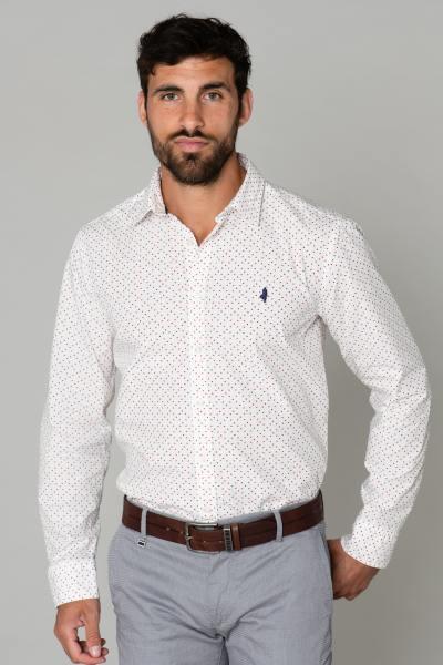 Weißes Hemd mit Baumwollmuster