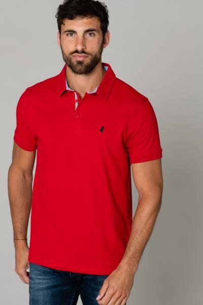 Rotes schickes Polohemd für Männer