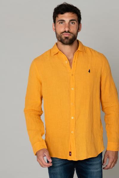 Chemise jaune en lin              title=