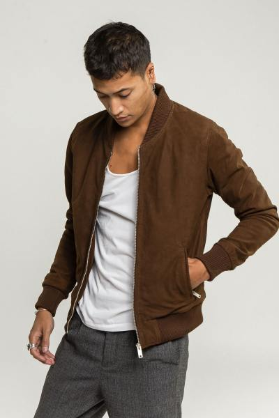 Teddy suede couleur tobacco              title=