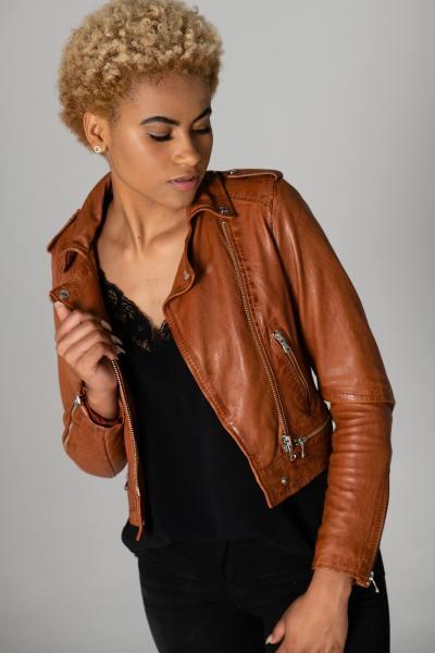 Perfecto femme couleur cognac