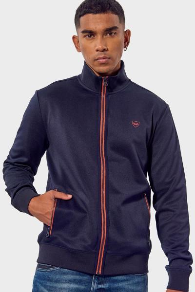 Veste sportswear bleu marine              title=