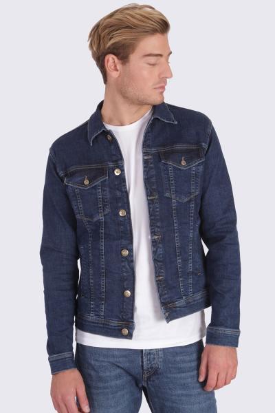 Veste en jean bleue              title=