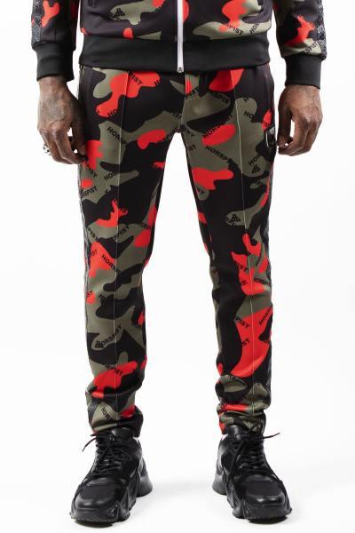 Pantalon de survêtement camouflage rouge              title=