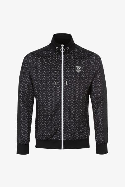 Sweatshirt mit Reißverschluss und hohem Kragen in Schwarz              title=