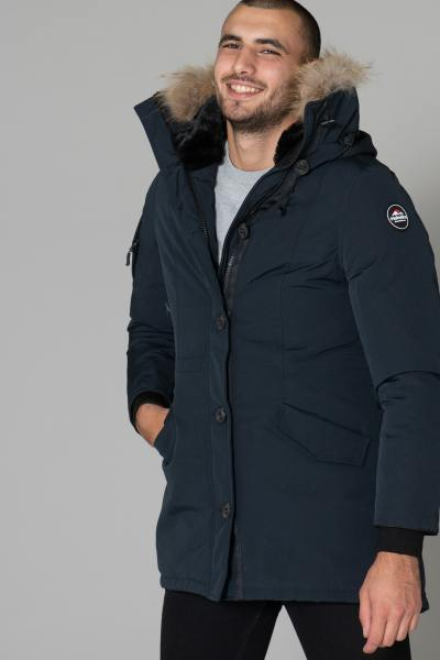 Fleece-Herrenparka mit Fell              title=
