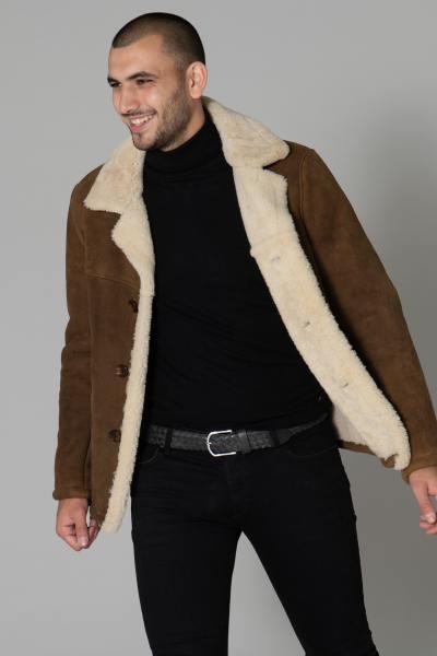 Veste en mouton retourné homme              title=