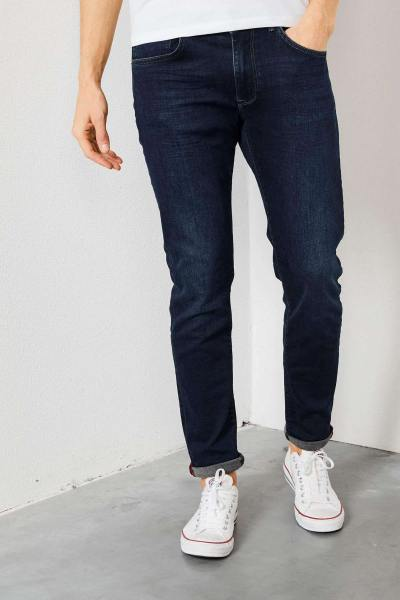 Mitternachtsblaue Slim-Fit-Jeans              title=