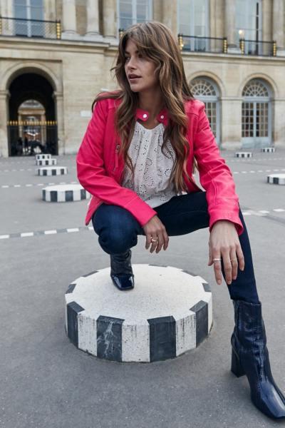 Blouson rose fushia pour Femme              title=