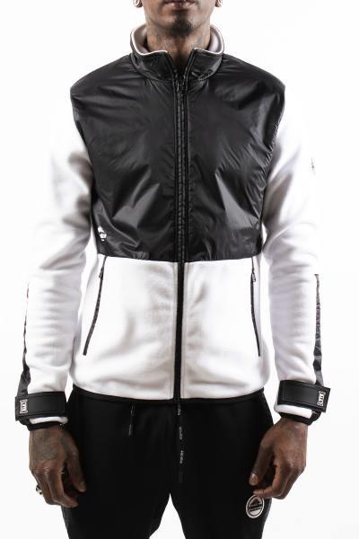Blouson homme streetwear blanc et noir              title=